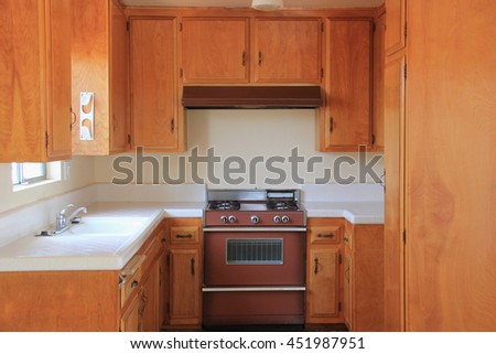 Kitchen Interior Design with Wooden Cabinets Cabinets, Sinks and and Oven