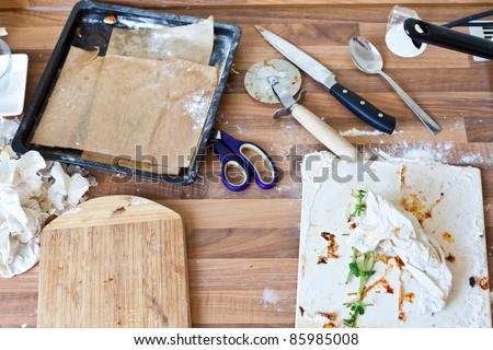 Kitchen mess - stock photo