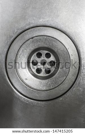 kitchen metallic sink - stock photo