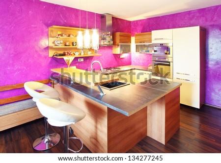 Kitchen modern - stock photo