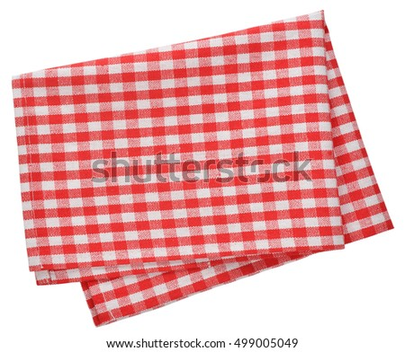 Kitchen napkin isolated on white background