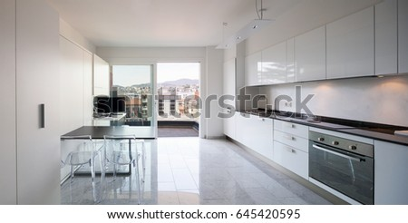 Kitchen of a modern apartment