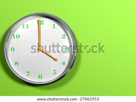Kitchen or office clock. - stock photo
