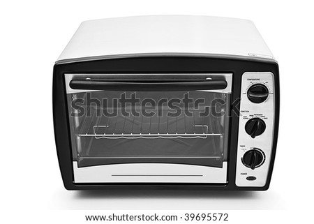 Kitchen oven isolated on white background - stock photo