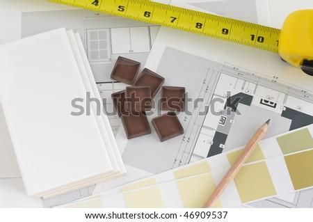 Kitchen Planning - stock photo