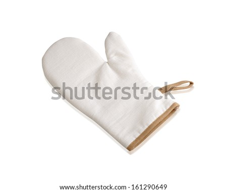 Kitchen protective glove isolated on white background - stock photo