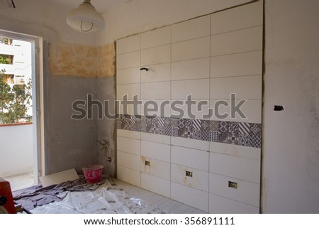 kitchen renovation  - stock photo