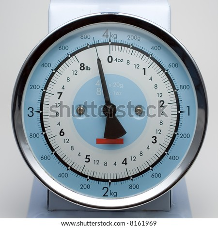 Kitchen scale - stock photo