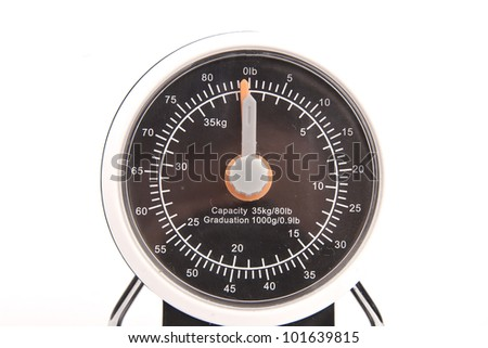 Kitchen scales - isolated on white background - stock photo