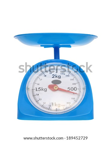 kitchen scales isolated on white background (600 gram)