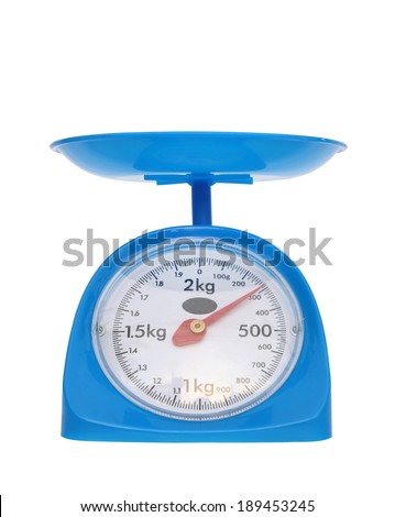 kitchen scales isolated on white background (300 gram)