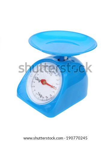kitchen scales isolated on white background  (500 gram)