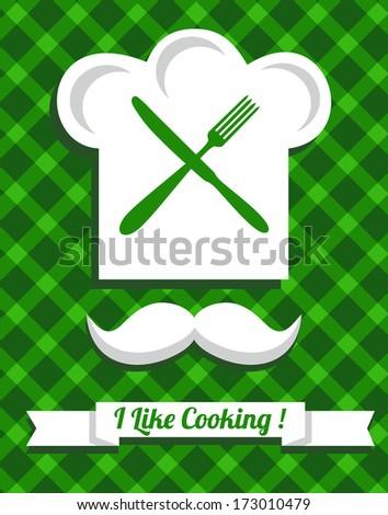 Kitchen set icon. - stock photo