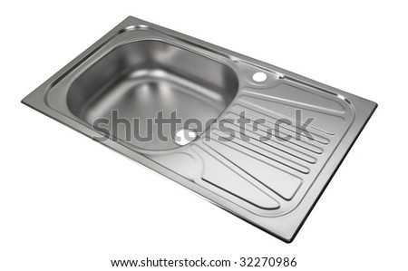 Kitchen sink  file includes clipping path - stock photo