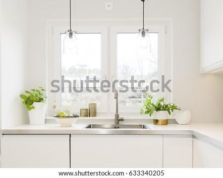 kitchen sink in a modern fancy design kitchen