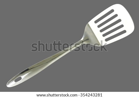 Kitchen spatula isolated on white background - stock photo