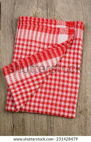 Kitchen stuff cloth on the wood - stock photo