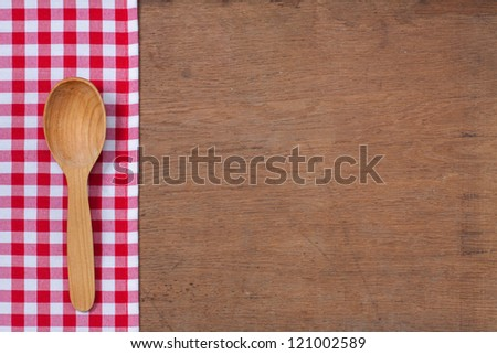 Kitchen Table Background wooden kitchen table with wooden spoons stock photos, royalty-free