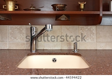Kitchen tap - stock photo