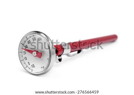 Kitchen thermometer on white background - stock photo