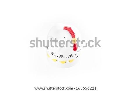 kitchen ticker timer whit chicken theme  isolated over white background - stock photo