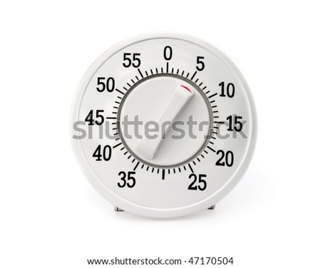 Kitchen timer isolated on white