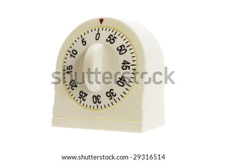 Kitchen Timer on Isolated White Background