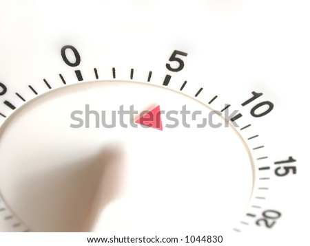 kitchen timer set with five minutes to go - stock photo