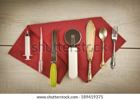 Kitchen Tools for food styling prepare cooking equipments - stock photo