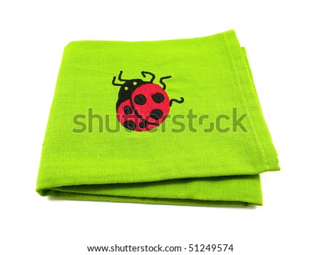 Kitchen towel isolated on a white background - stock photo