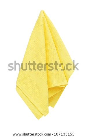 Kitchen towel isolated on white background - stock photo