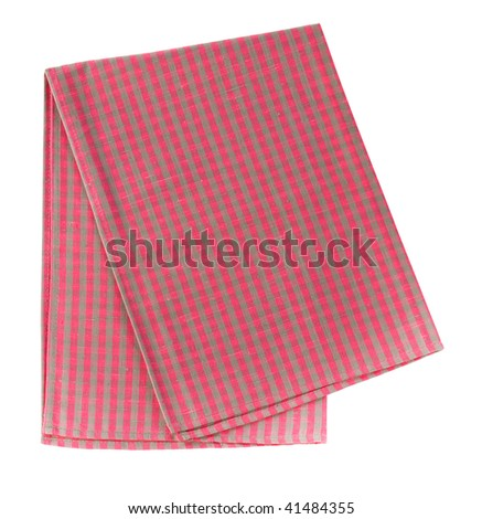 Kitchen towel isolated on white. Clipping path