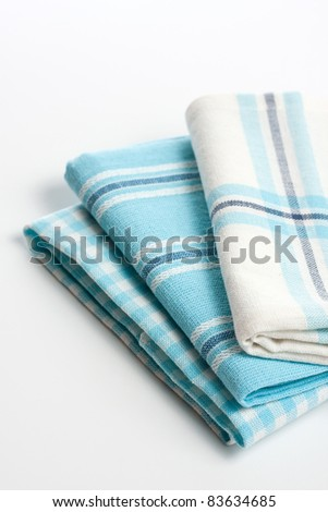 Kitchen towels, close up - stock photo
