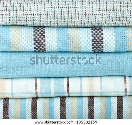 Kitchen towels closeup - stock photo