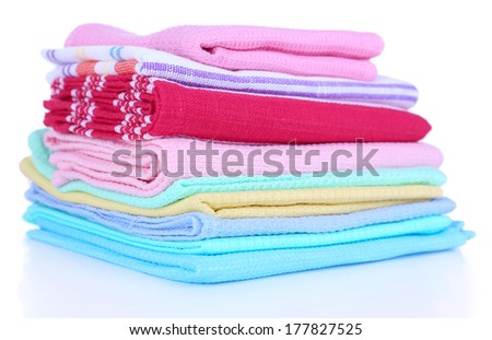 Kitchen towels isolated on white