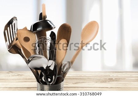 Kitchen Utensil. - stock photo