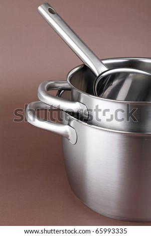 kitchen utensil, cooking pot - stock photo