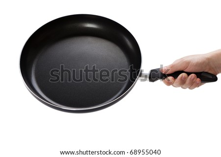 Kitchen utensil food cooking frying pan or griddle - stock photo