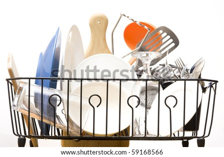 Kitchen utensil isolated on white background - stock photo