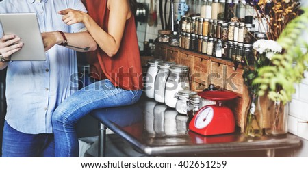 Kitchen Utensil Kitchenware Tools Scale Digital Tablet Concept - stock photo