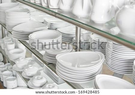 kitchen utensil shop - stock photo