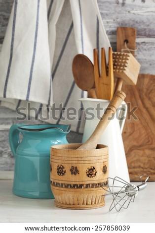 Kitchen utensils. - stock photo
