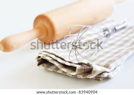 Kitchen utensils for cooking pastry - stock photo