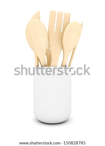 White Kitchen Utensils kitchen utensils cup on white background stock illustration