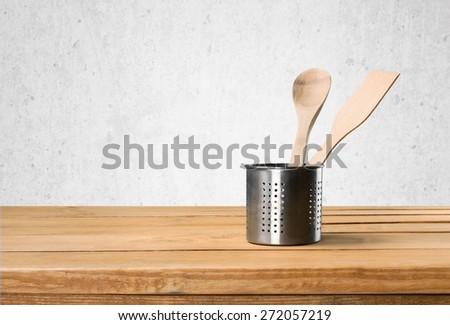 Kitchen, wall, table. - stock photo