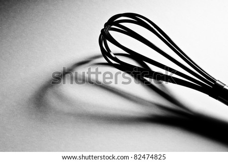 Kitchen Whisk; isolated, shadow