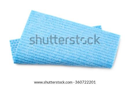 Kitchen wipe cloth isolated - stock photo
