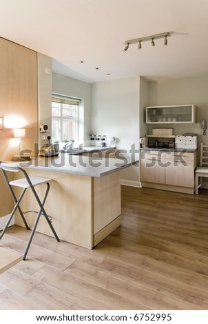 kitchen with appliances and table tops