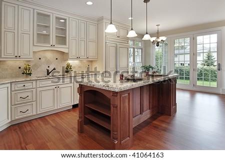 Kitchen with island - stock photo