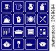 Kitchenware dishware kitchen Icons  - stock photo